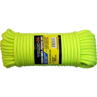 Rope Fluro Yellow 8mm X 20M