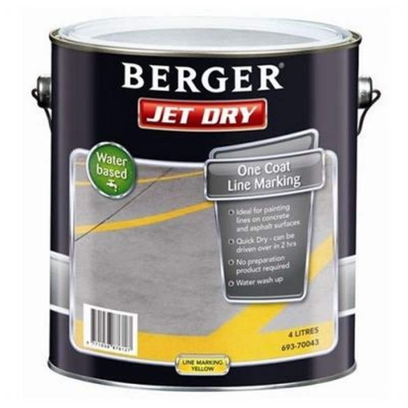 Berger Jetdry Line/Mark Yellow 4L