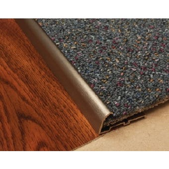 Edge Carpet Nap Lock Trim S/Steel 1.8M