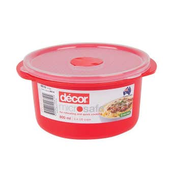Decor Microsafe Round Container 800ml