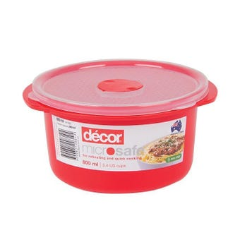 Decor Microsafe Round Container 800ml