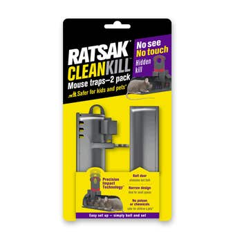 Ratsak Clean Kill Mouse Trap - 2 Pack