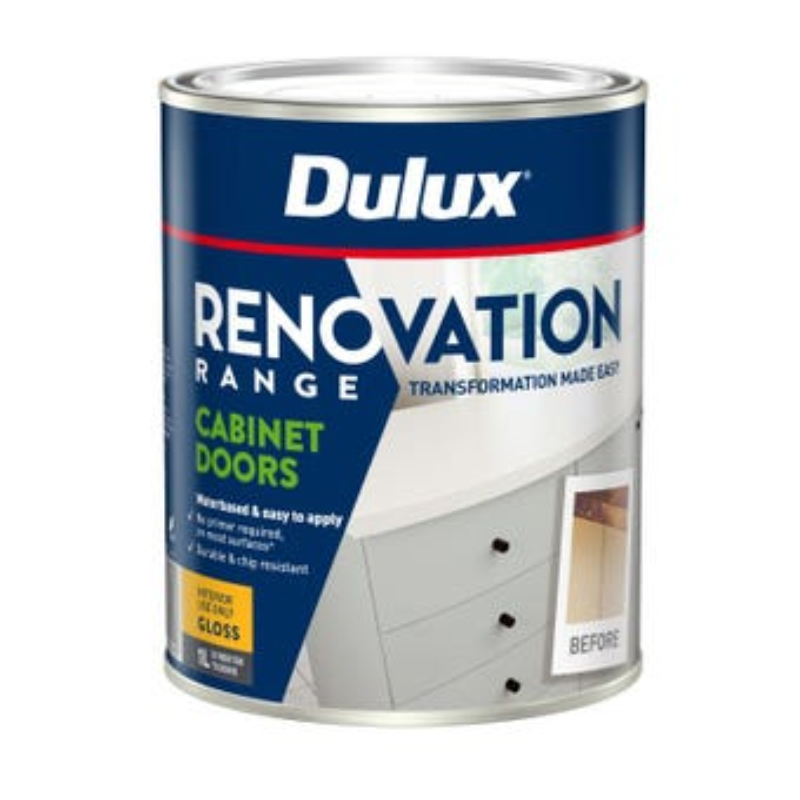 Dulux Renovation Range Cabinet Doors Gloss Ticking 1L