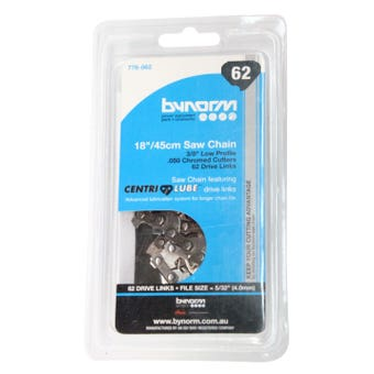 """Bynorm Chainsaw Chain 3/8"""" Low Profile 62 Drive Links"""