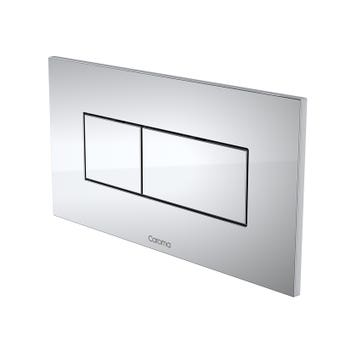 Caroma Invisi Series II Rectangle Metal Dual Flush Plate and Buttons