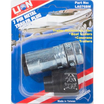 Lion 7 Pin Metal Trailer Plug