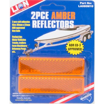 Lion Amber Reflector 2 Pack