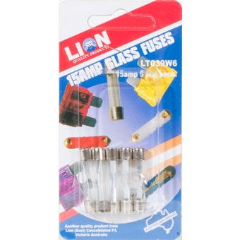 Lion 15Amp Fuse Pack 5 Piece