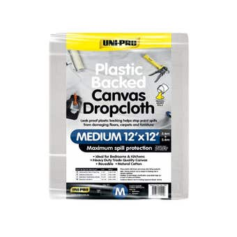 Uni-Pro Plastic Backed Canvas Dropcloth