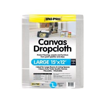 Uni-Pro Canvas Drop Cloth Large 4.5 x 3.6m
