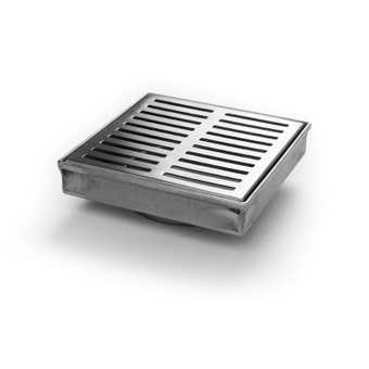 Hayman Stainless Steel Floor Drain Long Rectangle Cover 110mm