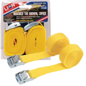 Lion 25mmx2.5m Quick Release Tie Down 2 Piece