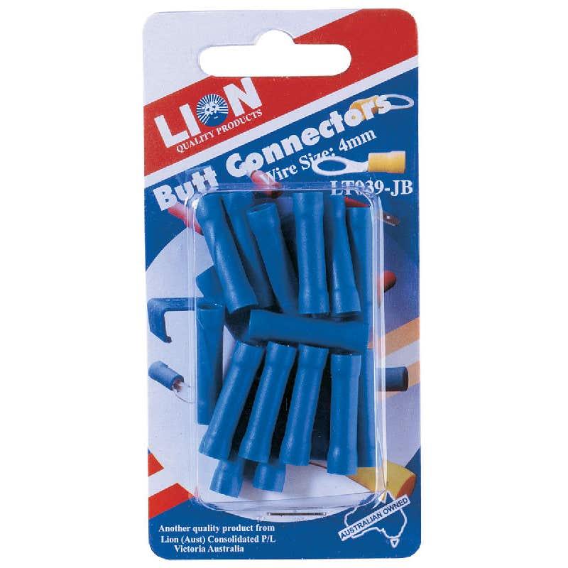 Lion Terminal Butt Blue Connectors 18 Piece