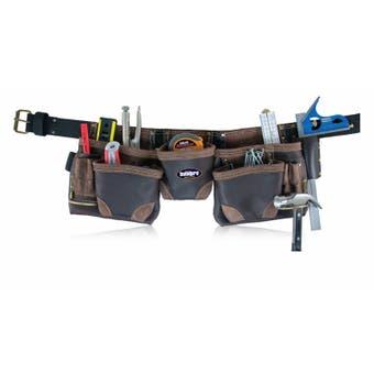 Buildpro 10 Pocket Split Leather Tool Belt