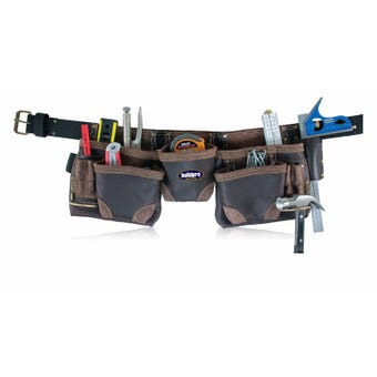 Buildpro 10 Pocket Split Leather Tool Belt