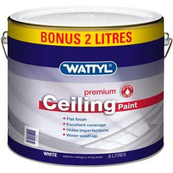 Wattyl Premium Ceiling White 6L
