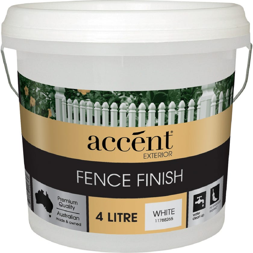 Accent® Fence Finish White 4L