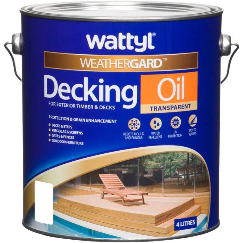Wattyl Weathergard Decking Oil 4L Jarrah