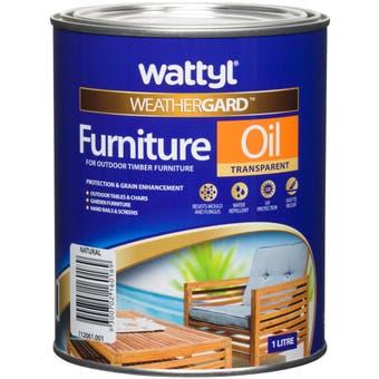 Wattyl Weathergard Furniture Oil 1L