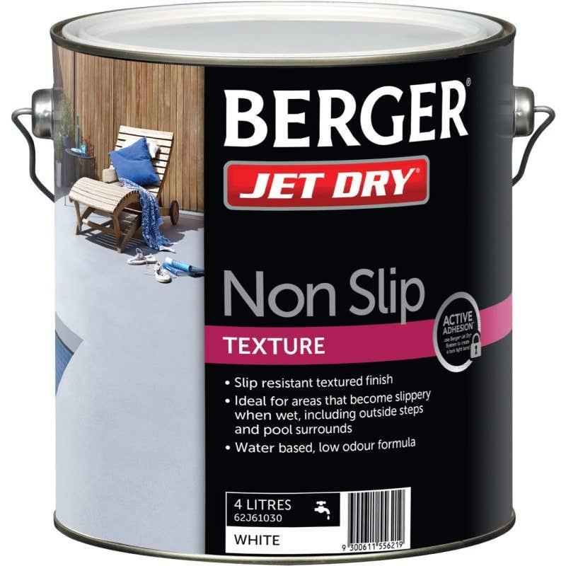 Berger Jet Dry Non Slip Text 4L White