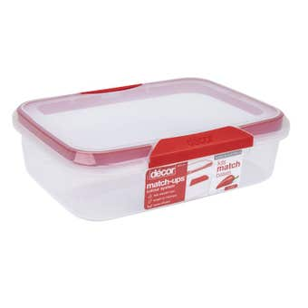 Decor Oblong Match-ups Clips Container 4L