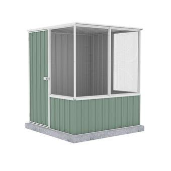 Absco Chicken Coop Flat Roof 1.52 x 1.52 x 1.80m