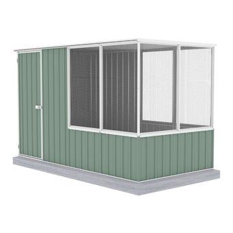 Absco Chicken Coop Flat Roof 1.52 x 2.96 x 1.80m