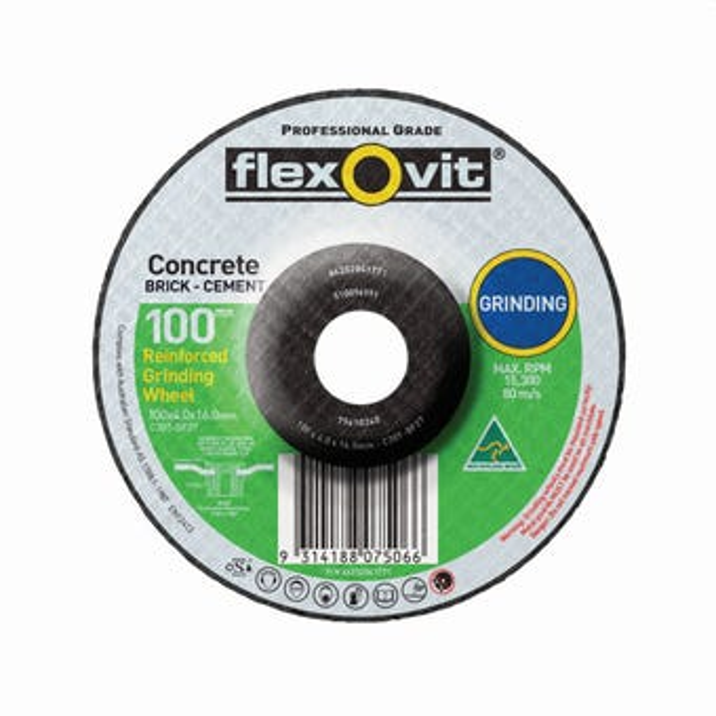 Flexovit  Masonry Grinding Wheel 102 x 4.0 x 16mm