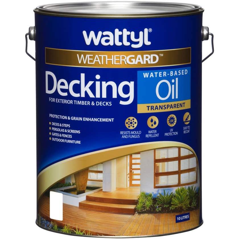 Weathergard Water Based Decking Oil Natural 10L
