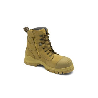 Blundstone Water-Resistant Nubuck Zip Side Safety Boot Wheat 992