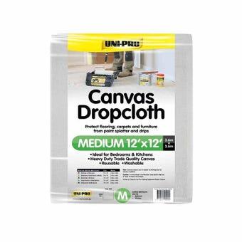 Uni-Pro Canvas Drop Cloth Medium 3.6 x 3.6m