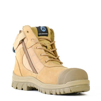 Bata Zippy Zip Sided Safety Boot Wheat