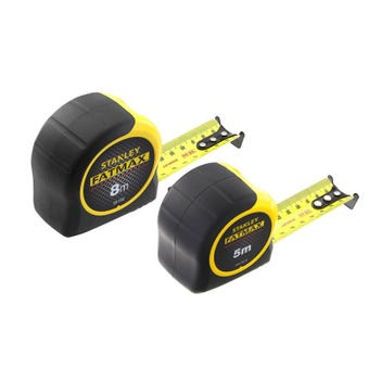 Stanley Fatmax 5m & 8m Tape - Twin Pack