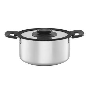 Fiskars Stainless Steel Casserole Saucepan with Handles 3L