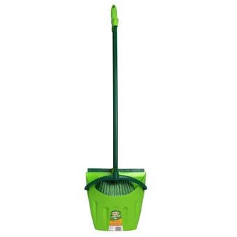 Sabco Long Handle Lobby Broom & Dustpan Set