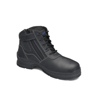 Blundstone Leather Zip Side Non-Safety Boot Black 419