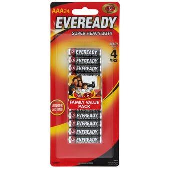 Eveready Super Heavy Duty Battery AAA - 24 Pack