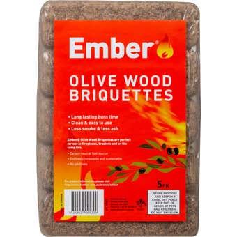 Ember Olive Wood Briquettes - 5 Pack