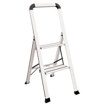 Faulkner™ 2 Step Euro Ladder 100kg Domestic White