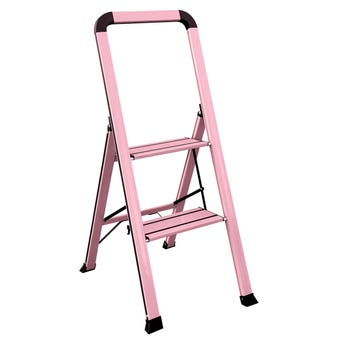 Faulkner™ 2 Step Euro Ladder 100kg Domestic Pink