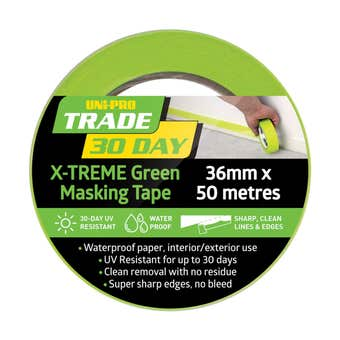 Uni-Pro Trade 30 Day X-TREME Green Masking Tape 50m