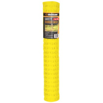 Hurricane™ Safety Barrier Mesh Yellow 1 x 50m