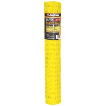 Hurricane™ Safety Barrier Mesh Yellow 1 x 50m