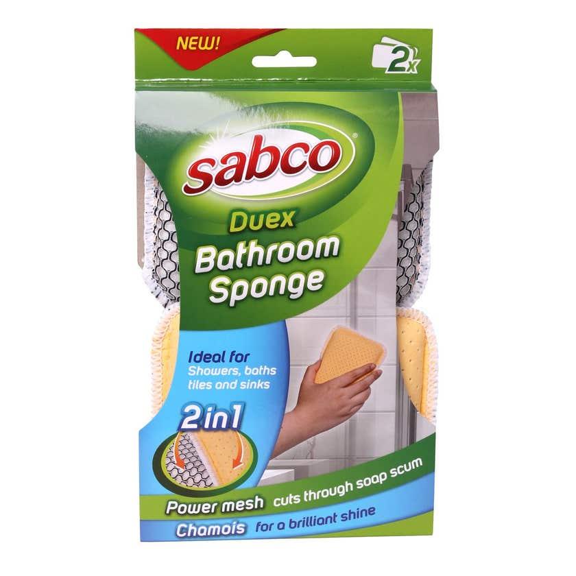 Sabco Duex Bathroom Sponge - 2 Pack