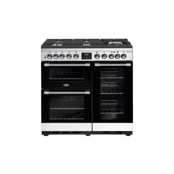 Belling Freestanding Dual Fuel Range Cooker Stainless Steel 900mm