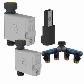 Orbit B-Hyve Tap Timer Hub 4 Ports Watering Kit