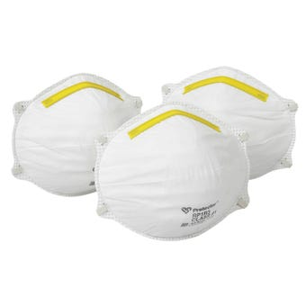 Protector Disposable Respirators - 3 Pack Workmate