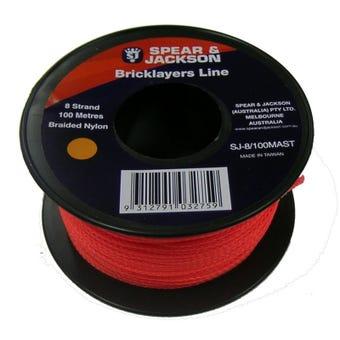 Spear & Jackson Fluoro Bricklayers Line Orange 100m
