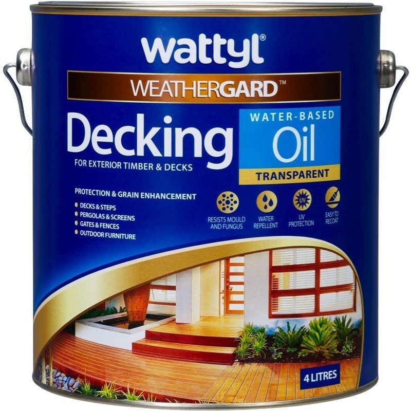 Wattyl Weathergard Decking Oil Natural 4L