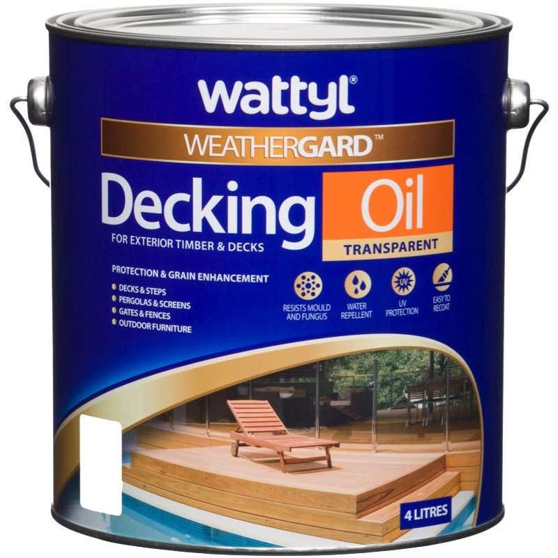 Wattyl Weathergard Decking Oil 4L Merbau